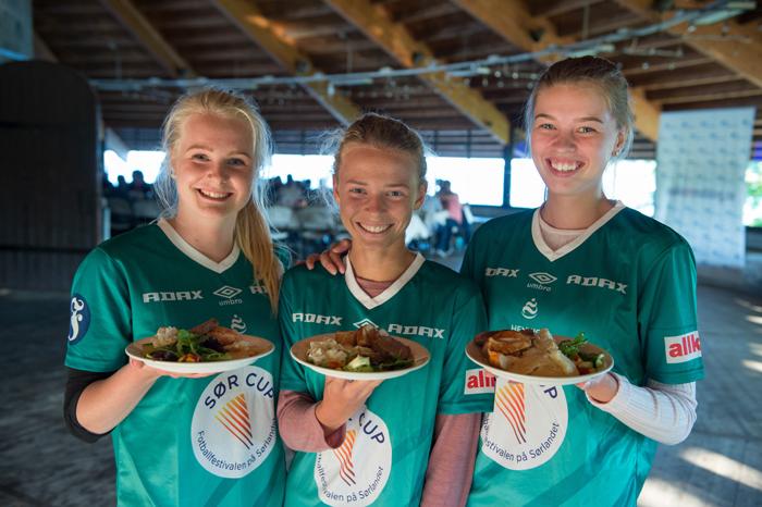 Tre av jentene i Donn som jobbet som teknisk personell på Ledertreffet
